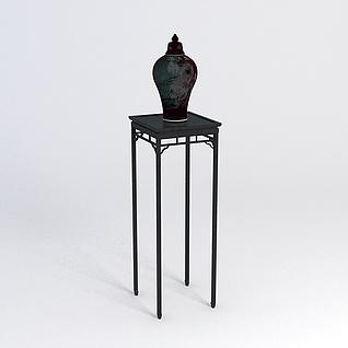 花几花瓶组合3d模型