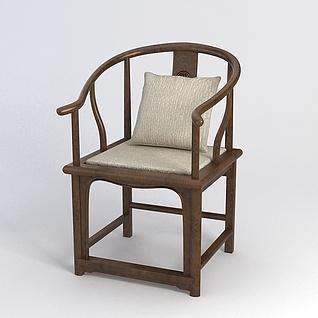 中式古朴圈椅3d模型