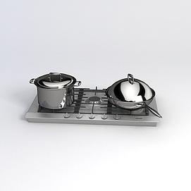 飯店炒鍋煮鍋模型