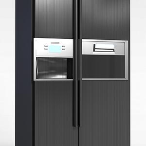 LG金屬拉絲雙開門冰箱模型