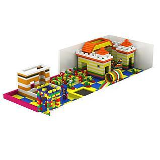 积木儿童益智玩具3d模型