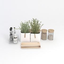 植物裝飾品模型