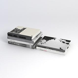 精装书籍3d模型