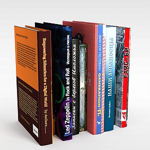 3d书籍模型