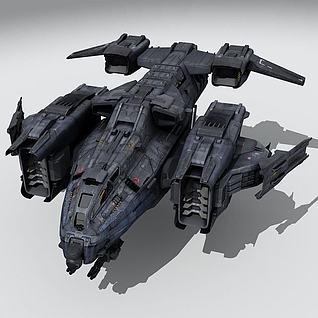 飞船战机3d模型