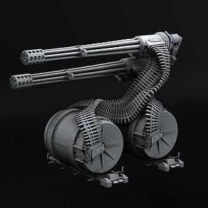 3D機槍模型3d模型