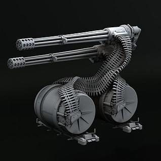 3D机枪3d模型