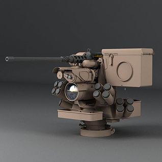 真实3D机枪3d模型