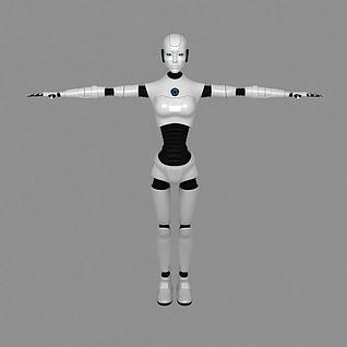 男性机器人3d模型
