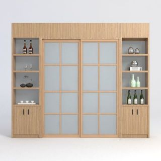 隔断柜门3d模型