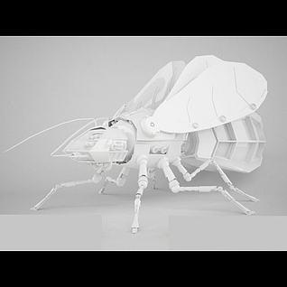 金属机械蜂3d模型