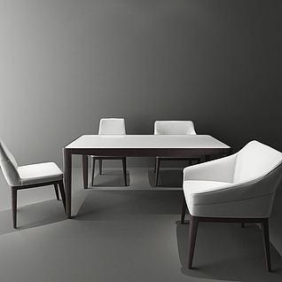 现代餐桌椅3d模型3d模型
