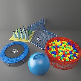 3d球池玩具模型