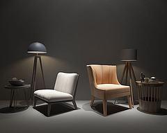北欧单人沙发模型3d模型