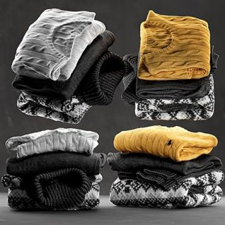 衣服毛衣3d模型