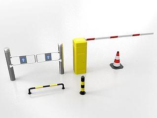 停车杆路障模型3d模型