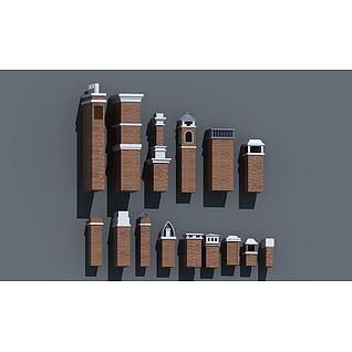烟囱3d模型