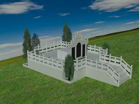 墓地3d模型