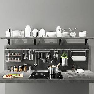 厨房置物架模型