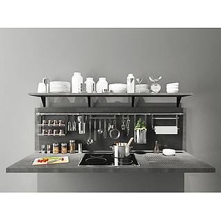 厨房置物架3d模型