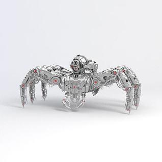 金属机械蜘蛛3d模型