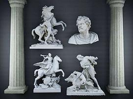 欧式雕塑3D模型