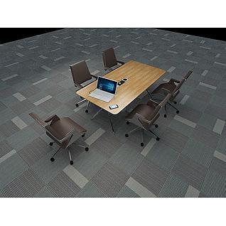 会议桌椅3d模型