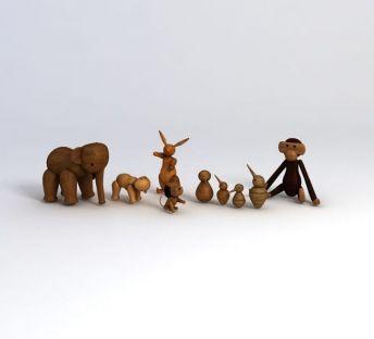 木质玩具摆件