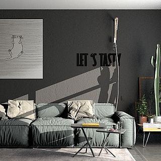 北欧沙发茶几装饰画组合3d模型