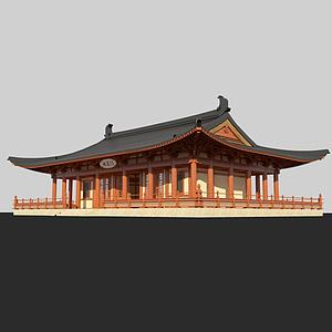 3d唐風<font class='myIsRed'>古建筑</font>模型
