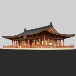 唐风古建筑3d模型3d模型