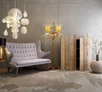 原木柜子纸质吊灯沙发椅组合