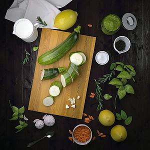 砧板蔬菜组合模型