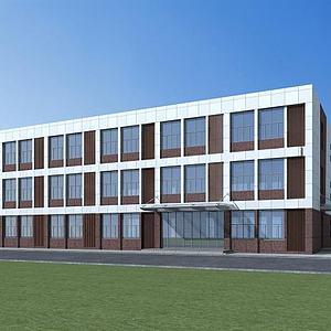 学校办公楼模型3d模型