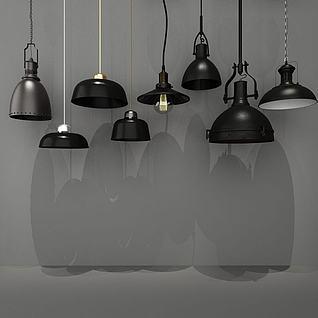 工业风单头灯3d模型3d模型