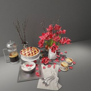 蛋糕插花装饰3d模型3d模型