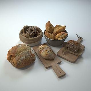 面包模型3d模型
