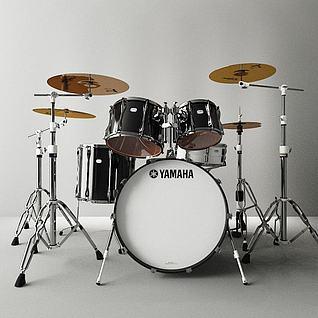 雅马哈架子鼓3d模型