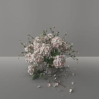 精美花束3d模型
