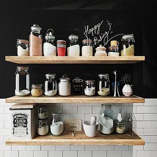 厨房调料3d模型