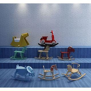 儿童木马3d模型