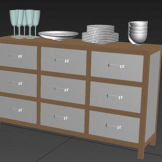 厨房斗柜3d模型