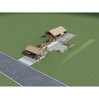 茅草屋3d模型3d模型