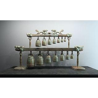 青铜编钟3d模型