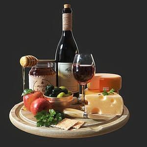 酒水奶酪模型