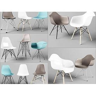 北欧椅子3d模型