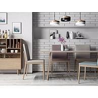 北欧餐桌椅3D模型3d模型
