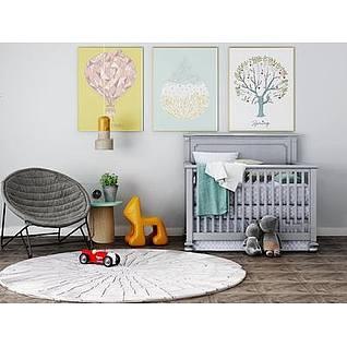 婴儿床3d模型