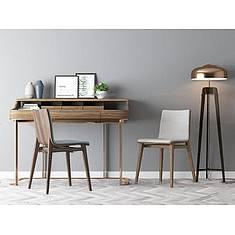 北欧书桌椅3D模型3d模型