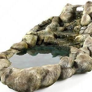 園藝水池模型3d模型